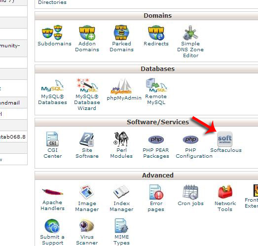 Where to find Softaculous in cPanel